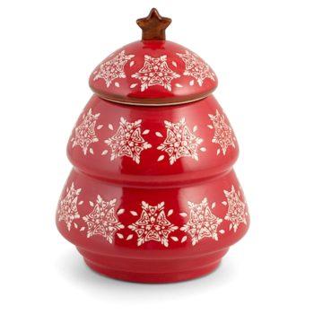 Barattolo Albero Natale Grace rosso H&H