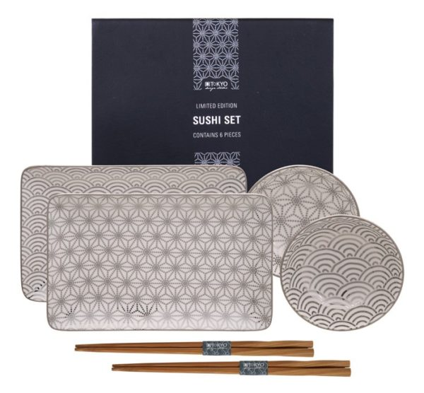 Set Sushi Platinum TOKIO DESIGN TK16154
