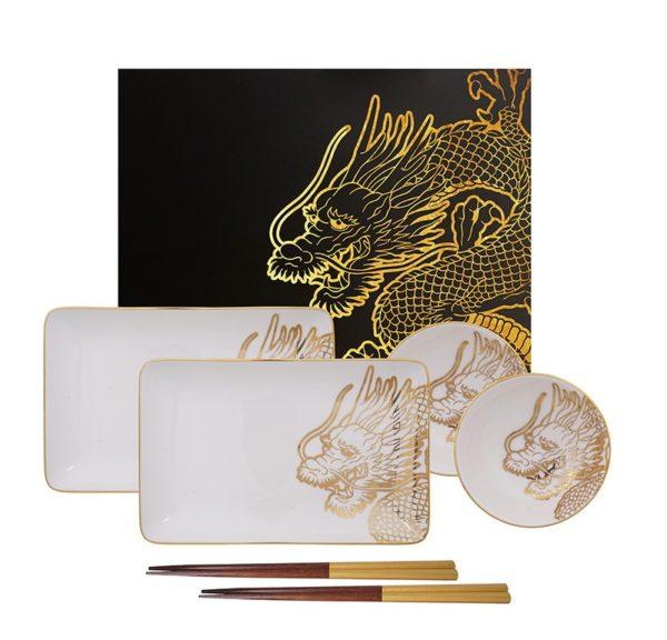 Set Sushi Dragon Gold TOKIO DESIGN
