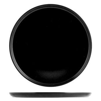 Piatto pizza nero cm.33 6637833 H&H